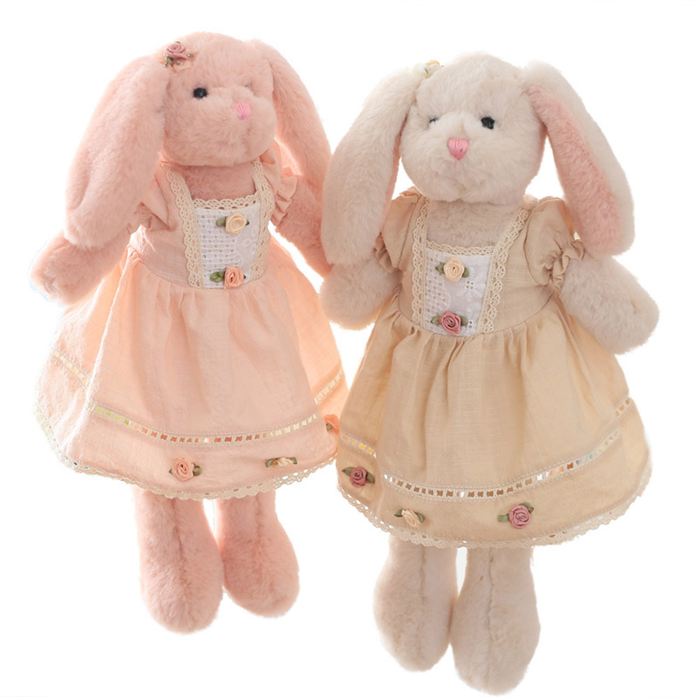 High Quality 40CM Kawaii Plush Rabbit Dolls Stuffed Bunny Lovely Dolls Birthday Gift For Girl brinquedo Soft Cute Dolls Kids Toy