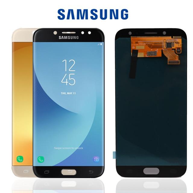"""100% Original de 5,5 """"de pantalla SUPER AMOLED para SAMSUNG Galaxy J7 Pro 2017 J730 J730F LCD digitalizador Asamblea piezas de repuesto"""