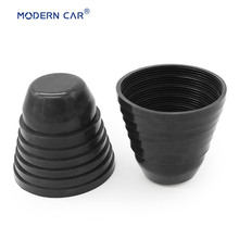 hot deal buy modern car 2x black 7 size in 1 rear rubber dust free cover cap gaskets boots 70 75 80 85 90 95 100 mm car headlight dust covers