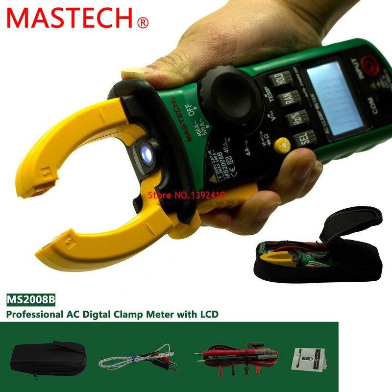 ФОТО Original Brand MASTECH MS2008B Auto Manual Range Digital Clamp DC/AC Volt Current Res Cap Temp Freq Meter Dropshiping