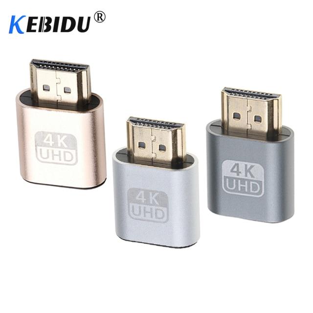 kebidu New generation VGA Virtual Display Adapter HDMI DDC EDID Dummy Plug Headless Ghost Display Emulator Lock plate