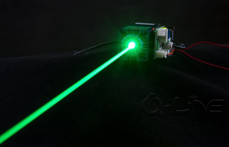 Q-LINE 100 150mW 1W  520nm grass green laser / stage laser light