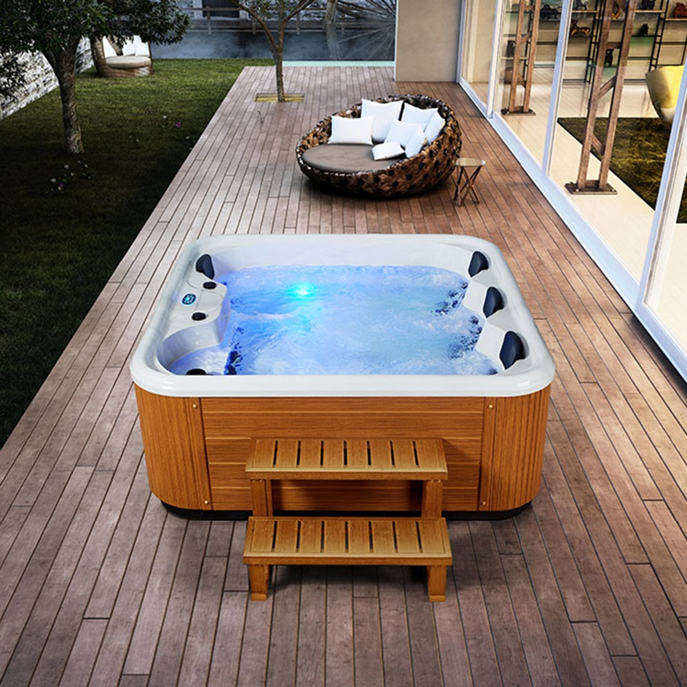 Hot sale 4 People Spa Tubs made in China deluxe outdoor whirlpool ...