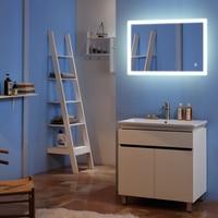 Touch светодиодный настенное зеркало украшения 36 x 36 квадратное зеркало внешний свет ленты декоративные зеркала для Ванная комната