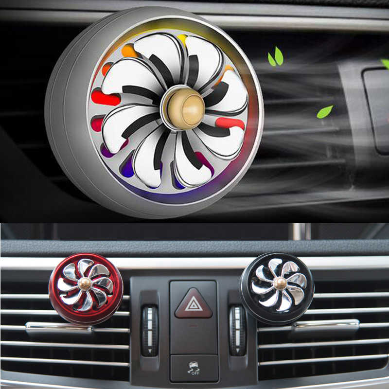 רכב מטהר אוויר צבעוני אורות אוויר Vent בושם עבור פורד פוקוס 2 פיאסטה מונדיאו Kuga סיטרואן C4 C5 סקודה אוקטביה rapid מעולה