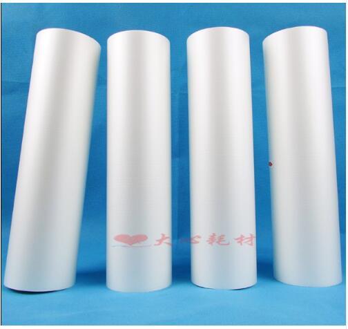 TWO rolls 44cm x 200 meters Hot laminating film BOPP light film photo advertising pre coating film mulching machine film
