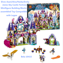 Bela 10415 Elves Azari/Aira/Naida/Emily Jones Sky Castle Fortres Minifigures Building Block assembled Toys Compatible With Legoe