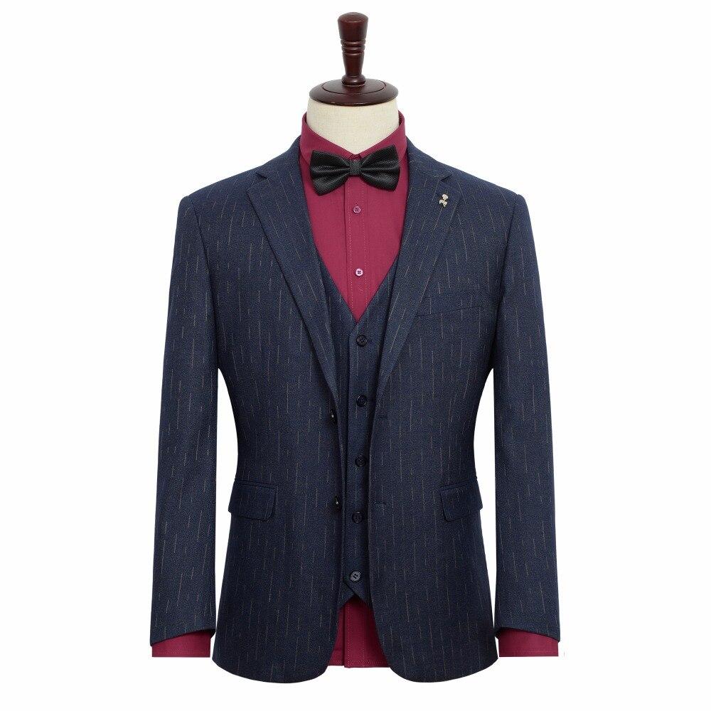 Erkek Kıyafeti'ten Blazerler'de 2019 Bahar Yeni erkek günlük giysi Düğün Akşam Elbise Ceket Mavi Stripes Blazer Erkek Büyük Boy Elbise 6XL 7XL 8XL 9XL'da  Grup 1