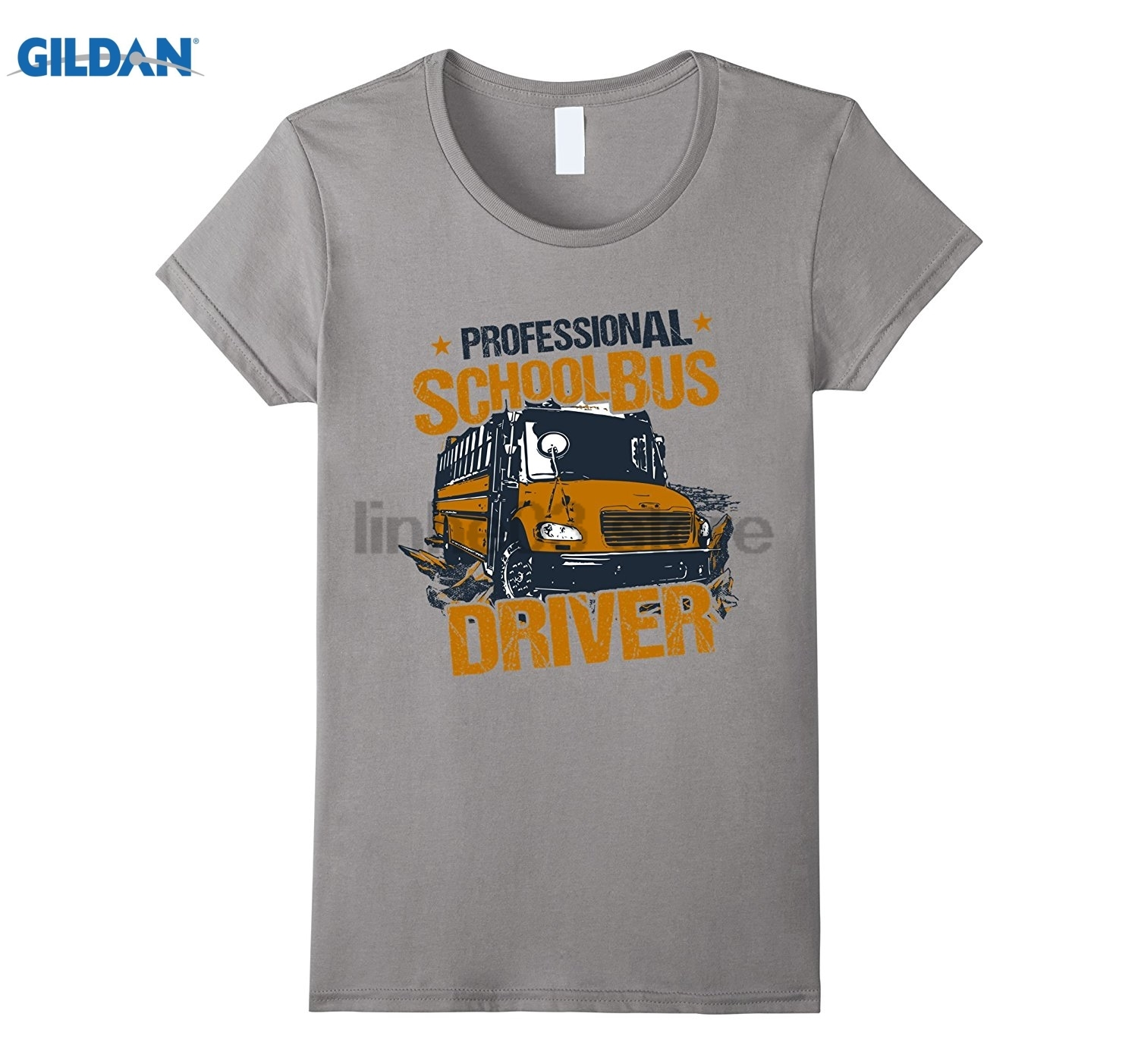 GILDAN T-Shirt Professional School Bus Driver Wild Vintage Look Hot Womens T-shirt Mothers Day Ms. T-shirt