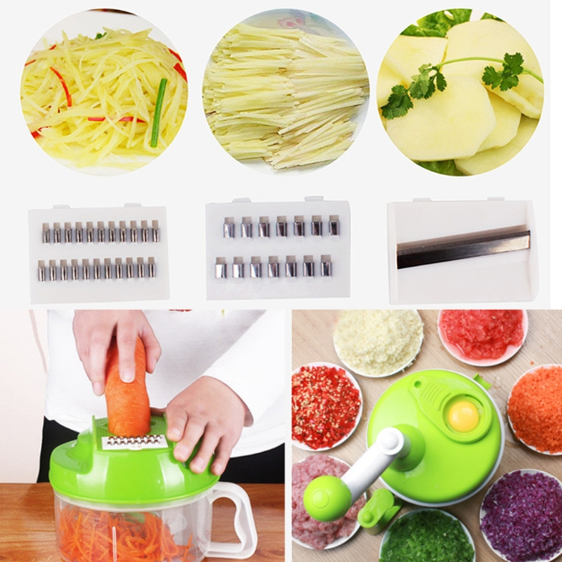 Multi-Function Manual Food Processor Household Vegetable Chopper Shredder Meat Grinder penghui multi function household manual food processor meat grinder white orange