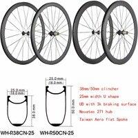 Китайские супер легкие карбоновые колеса 38 мм 50 мм глубина профиля трубчатый или клинчер шоссейный велосипед карбоновое колесо