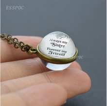 Always My Sister Forever My Friend Necklace Sister Family Gift Bronze Chain Double-sided Pendant my sister page 9