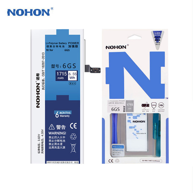 NOHON Lithium-Battery Original for iPhone 6S High-Capacity Free-Tools Retail-Package
