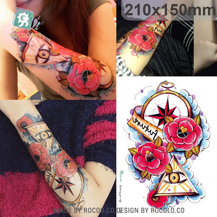 LC805/New 2015 flower design large temporary tattoo of body waterproof sticker for men/women