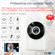 Wi-Fi IP Камера панорамного обзора 180 градусов Ночное видение мини Беспроводной Видеоняни и радионяни 1.0MP видеонаблюдения Smart Камера безопасности P2P
