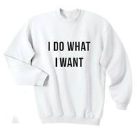 I Do What I Want Shirt Funny Hilarious Cool Attitude Tee Top Crewneck Sweatshirt Unisex More