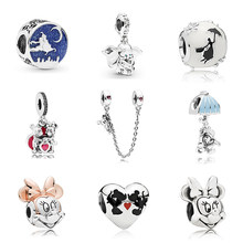 c336501ea New Original Free Shipping Sliver Plated Bead Mickey Fairytale Dumbo Love  Charm Fit Pandora Bracelet Necklace. 45 Colors Available