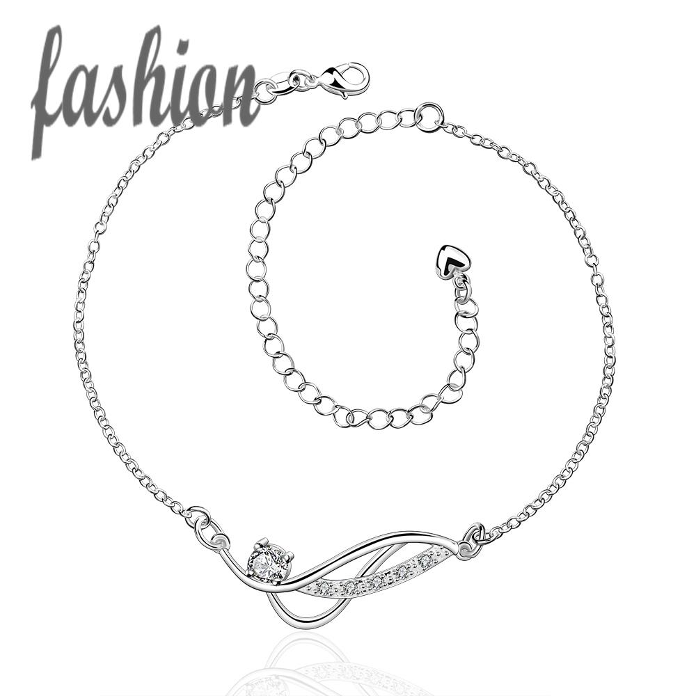 Anklets Jewelry Sets & More Cheap Price Silver Plated Anklet,new Design Fashion Silver Plated Jewelry,delicate Handmade Cheap Anklets For Gift Smta036-b Soft And Antislippery