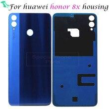 Cho huawei Honor 8X8 X Trở Lại Nhà Ở Pin Rear Door Bìa Trường Hợp 3D Glass Thay Thế Phụ Tùng Sửa Chữa Thay Thế trở lại Trường Hợp