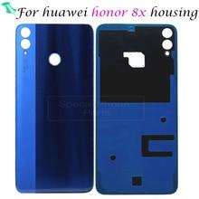 עבור huawei Honor 8X8 X חזור שיכון סוללה דלת אחורית כיסוי מקרה 3D זכוכית להחליף חלקי תיקון החלפה בחזרה מקרה