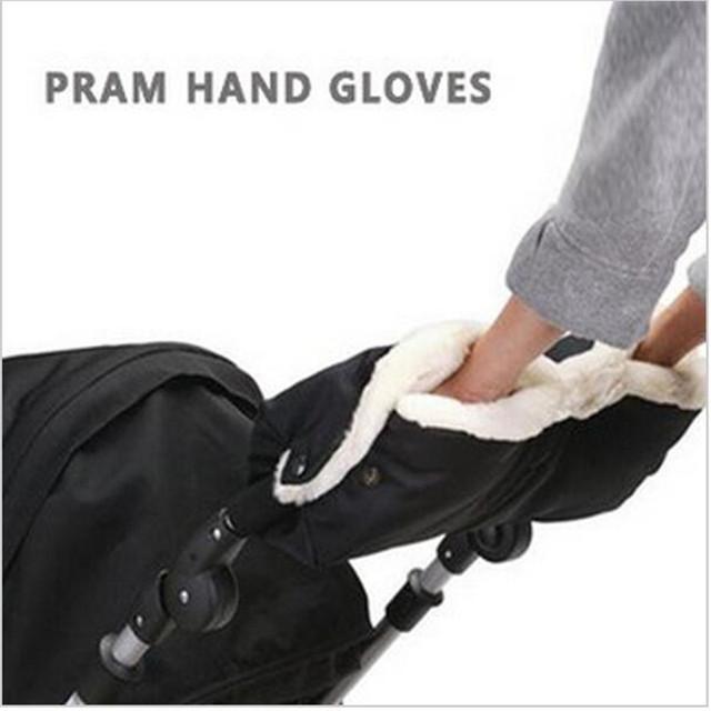 Cochecito de bebé accesorios mano muff plegable extra gruesos calientes guantes de invierno a prueba de agua anti-freezebaby Accesorios Cochecito cochecito