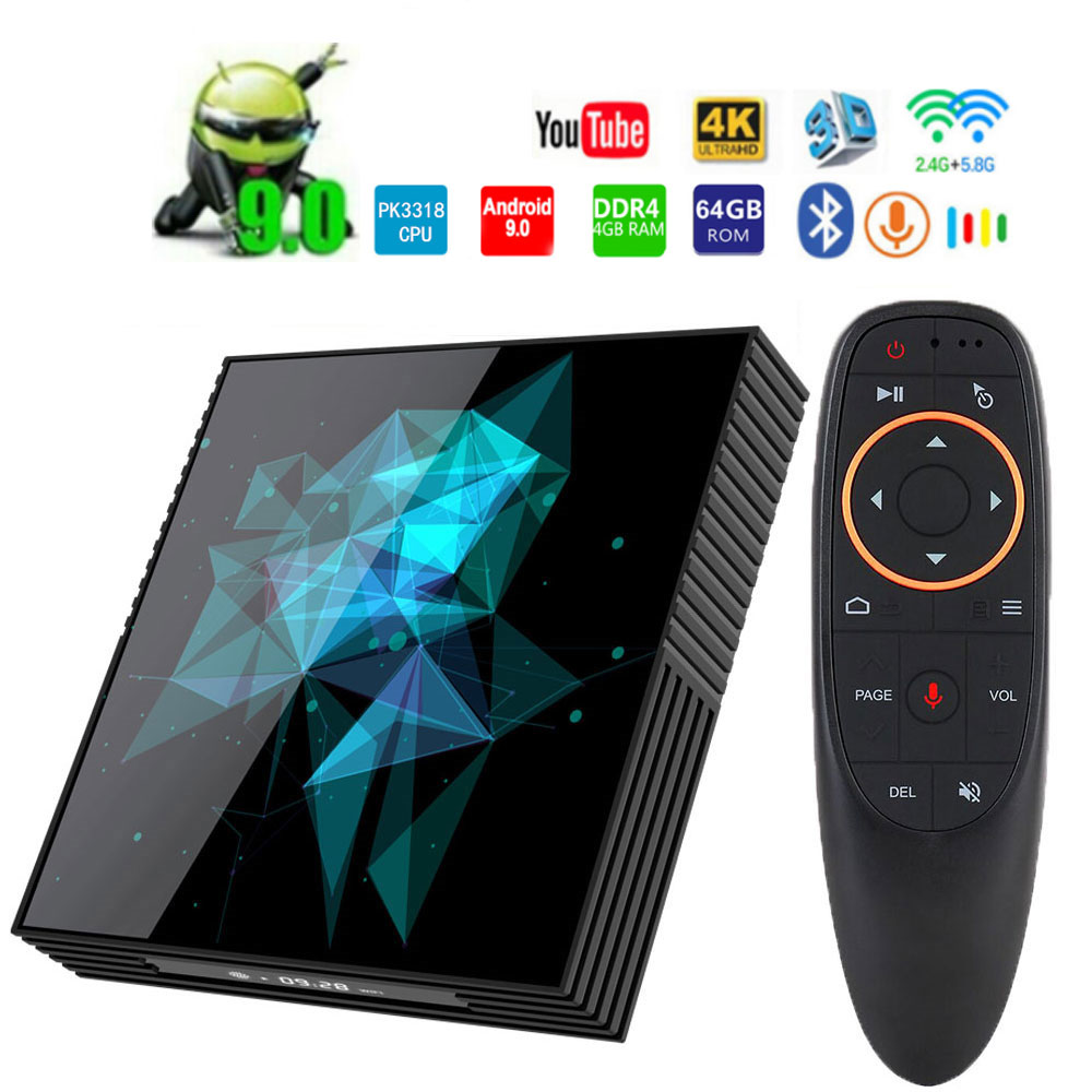Android 9.0 A95X Z2 Smart TV Box Rockchip RK3318 4GB 64GB BT4.2 4K Google Player 2.4G/5.0G WIFI Smart Android Tv PK H96MAX