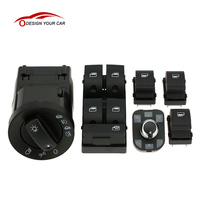 S6001 Z 6pcs OEM Car Style Headlight Control Electric Power Window Master Switch Control Kits for Audi A4 B6 B7 2002 2008