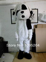 White And Black Dog Mascot Costume Fancy Dress Cartoon Character Mascotte Outfit No.2514 Free Ship
