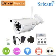 Sricam sp007 720 P HD IP Камера WI-FI ONVIF 2.4 P2P для смартфонов Водонепроницаемый vandalproof 15 м ИК-открытый дом безопасности Камера