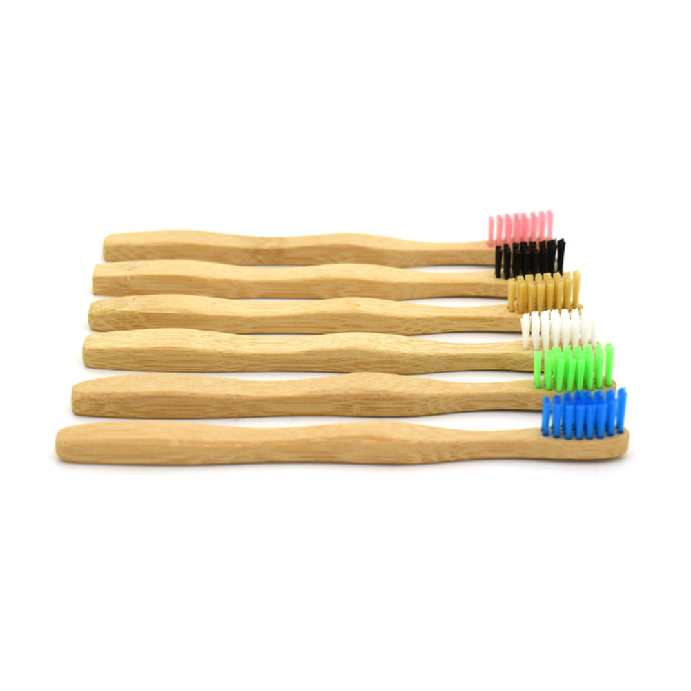 Y&W&F 1pc Eco Friendly <font><b>Kids</b></font> <font><b>Toothbrush</b></font> Natural Bamboo Handle Soft Bristle Wooden Tooth Brush Teeth Whitening Dental Oral Care image