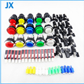 10*30mm LED Light Illuminated Full Colors Push Button With Micro Switch 8-Liner Cherry Master Arcade DIY kits Parts JAMMA MAME