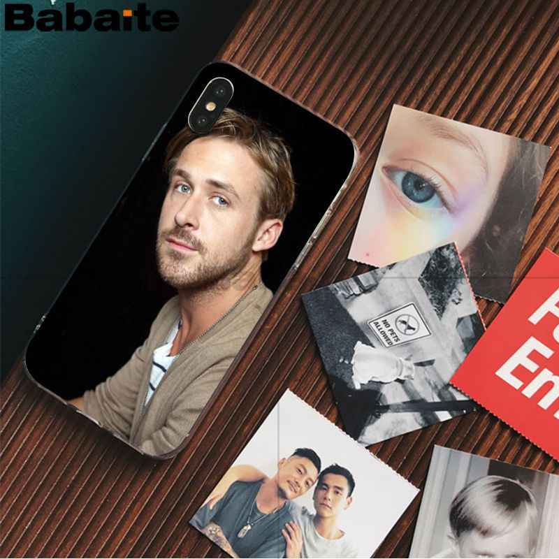 Unidade Babaite Ryan Gosling linda Acessórios Do Telefone Caso para Apple iPhone 8 7 6 6S Plus X XS max 5 5S SE XR Tampa