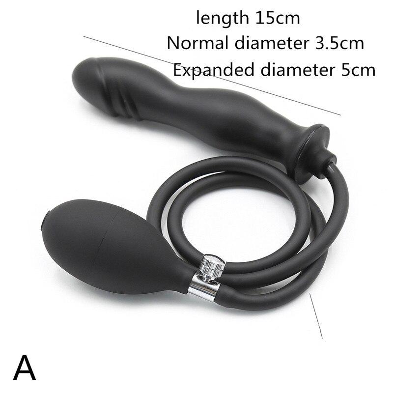 Adult Sex Toys Stimulate Bondage Restraints Rubber BDSM Sex Inflatable Anal Plug Butt Plug Erotic Sex Toys For Couples Adults