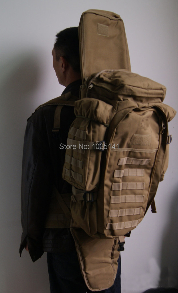 4b0856a42bf8 Tactical army big capacity outdoor travel Molle Extended Full Gear Dual  Backpack Bags for Airsoft CP multicam-in Backpacks from Luggage   Bags on  ...