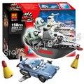 158 шт. Бела новый 10011 Pixar cars 2 Побег В Море Строительные Блоки Модель Игрушки Наборы Дети игрушки Совместимо С Lego