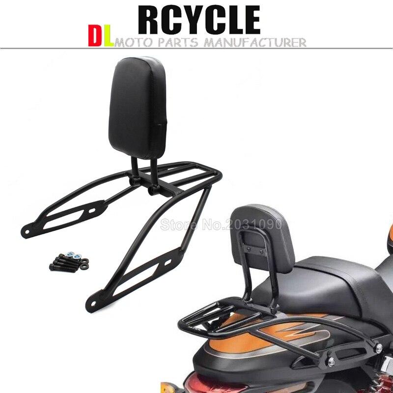 Detachable Luggage Bracket Holder Rack Sissy Bar Rear Passenger Backrest for Harley Street 500 XG500 750
