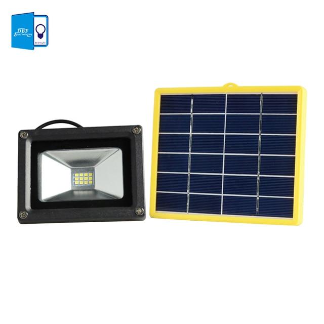 DBF]Waterproof 10W Solar powered LED Flood light with 5M wire+2200mA ...