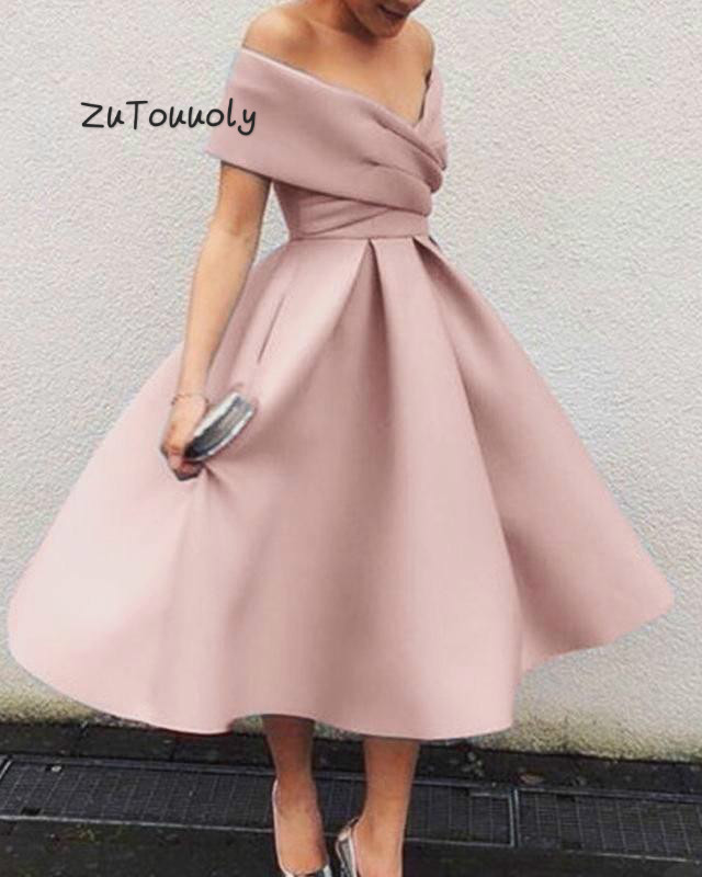 Elegant Black Emerald Midi   Prom     Dress   With Sleeve A Line Satin 2019 Short   Prom     Dresses   For Junior Plus Size Dance Ceremony   dress