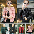 2016 Winter & Spring Women in Europe and America a Thin Short Section of Cultivating Outwear Cotton Padded Warm Jacket Outwear