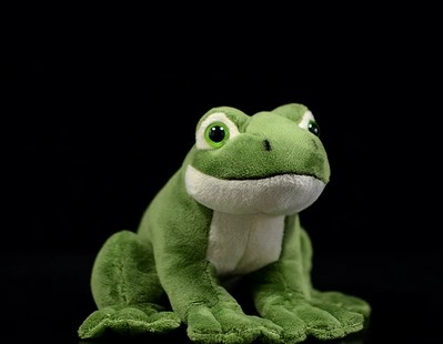 Free Shipping Super Cute Frog Plush Toy Simulation Animal Soft Stuffed Plush Dolls  For Children Birthday Gift