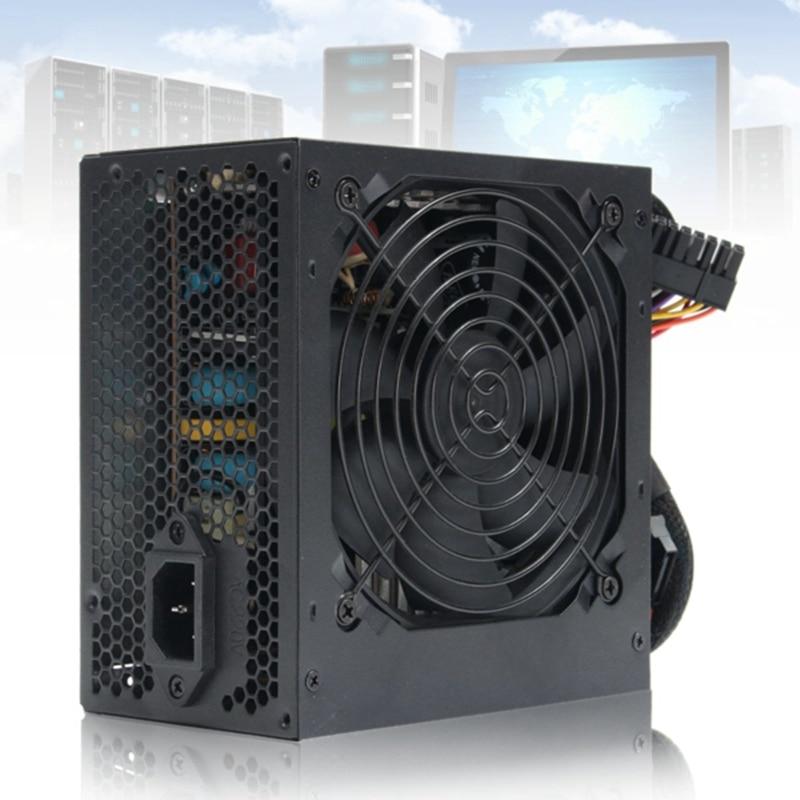 AU Plug MAX 650 W 24Pin PSU ATX 12 V Gaming PC fonte de Alimentação/Molex/Sata 650 Walt 12 CM Fan Nova fonte de Alimentação Do Computador Para BTC