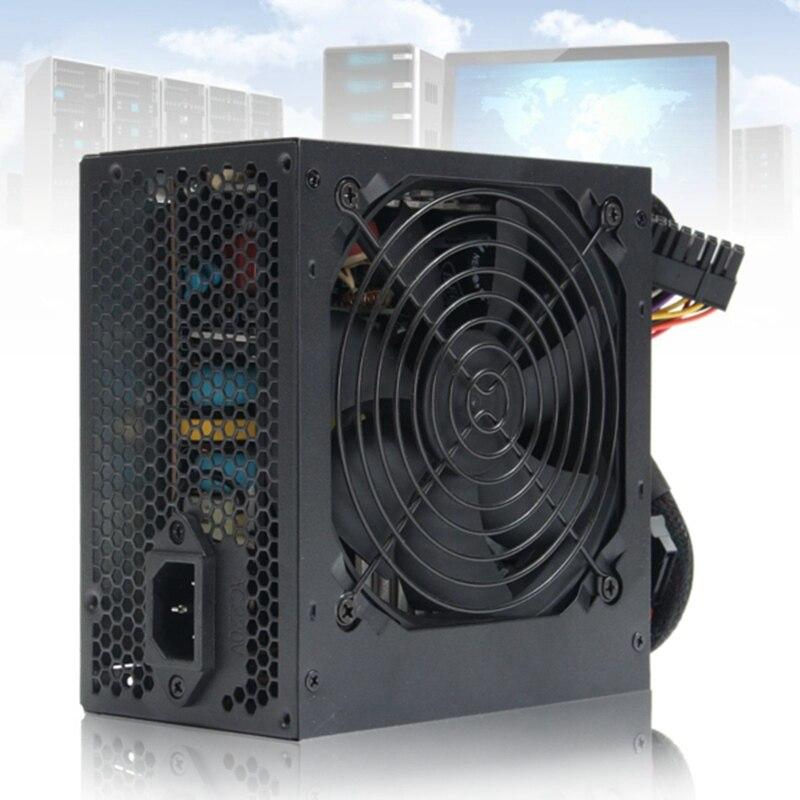 Plug UA MAX 650 W PSU ATX 12 V Gaming PC Alimentation 24Pin/Molex/Sata 650 Walt 12 CM Ventilateur Nouvel Ordinateur Alimentation Pour BTC