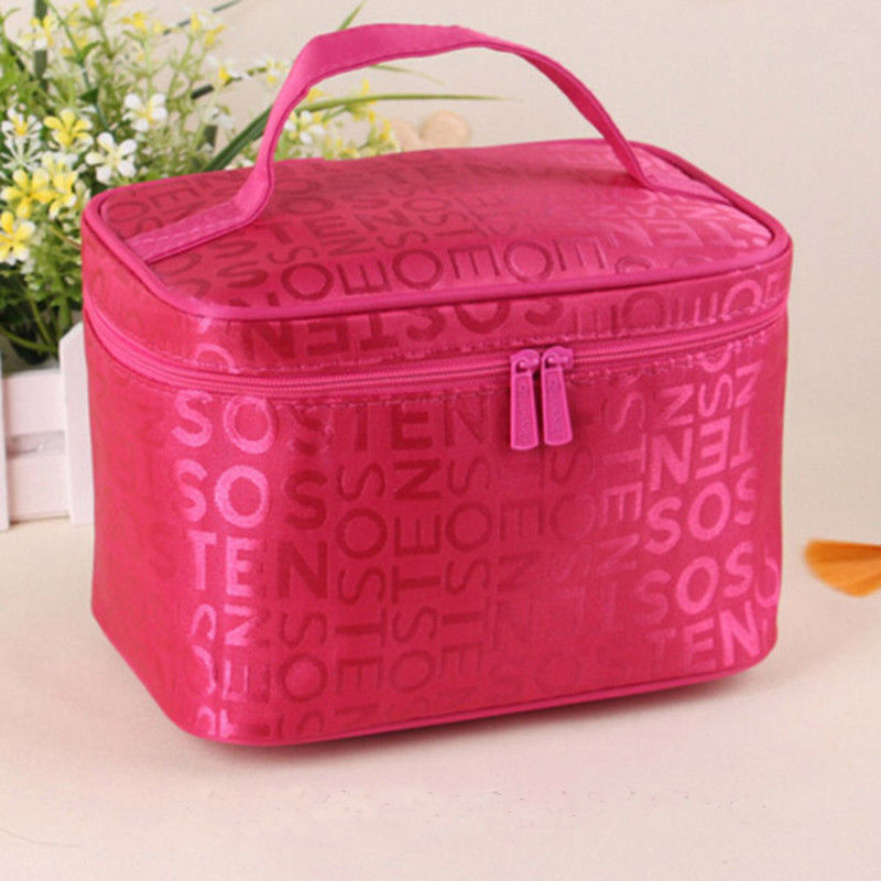5 colors 2017 new Women Makeup Bag Cosmetic Bags Women Ladies Beauty Case Cosmetics Organizer Toiletry Bag Travel Wash Pouch 2018 travel cosmetic bag packing cubes print makeup bags beauty case two tier cosmetics box waterproof organizer bag