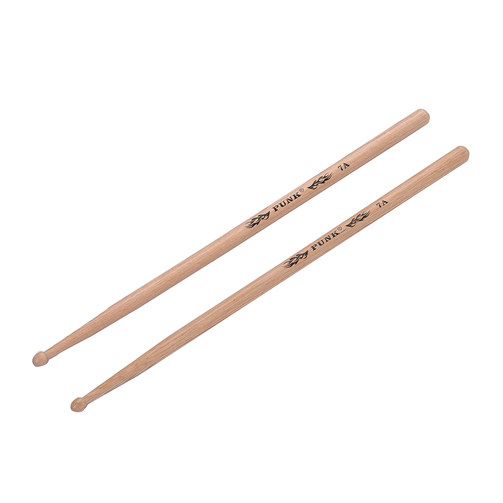 one pair 5a 5b 7a drumstick wooden drumsticks drum sticks ash wood drum set percussion. Black Bedroom Furniture Sets. Home Design Ideas