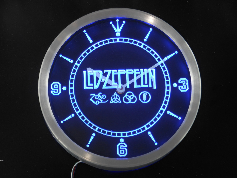 nc0141 Led Zeppelin Rock n Roll Punk Neon Sign LED Wall Clock