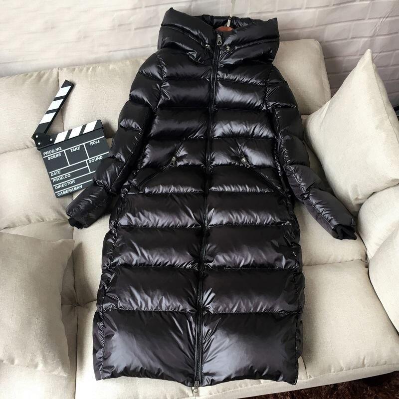 2019 Winter Long Down Parka 90% White Duck Down Jacket Women Thick Warm Long Winter Coat Women Hooded Female Winter Down Jacket