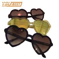 Для детей Солнцезащитные очки для женщин Мода в форме сердца милые UV400 дизайнер Рамки детские очки Обувь для девочек Солнцезащитные очки дл...