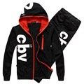 2017 Newest autumn men  suit  sportwear hoodies suits free shipping M L XL XXL