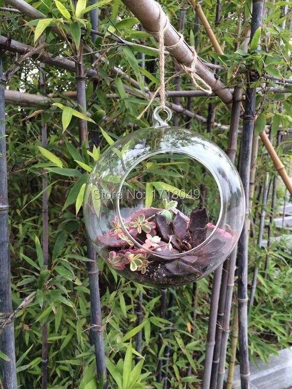 3PCSSet 10cm12cm15cm glass globe hanging planter vaseindoor