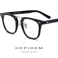 Acetate Glasses Frame Men Square Prescription Eyeglasses Women Full Optical Frame Clear Transparent Spectacles Nerd Eyewear